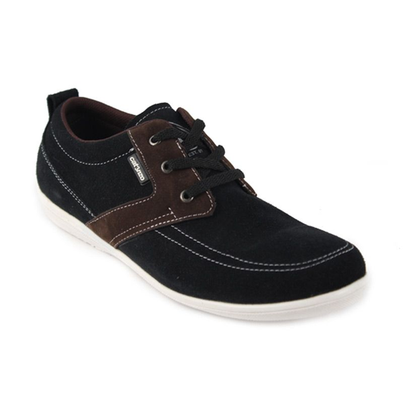 Catenzo Low Denim Black Sneakers Pria