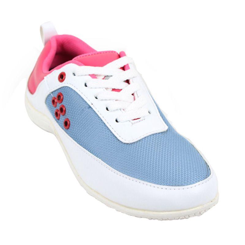 Catenzo Sport Girly White Pink Sepatu Wanita
