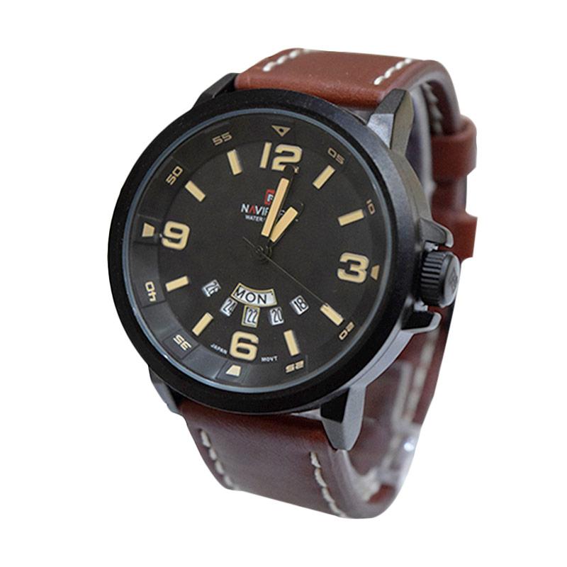 Naviforce NF9028BRW Jam Tangan Pria - Black
