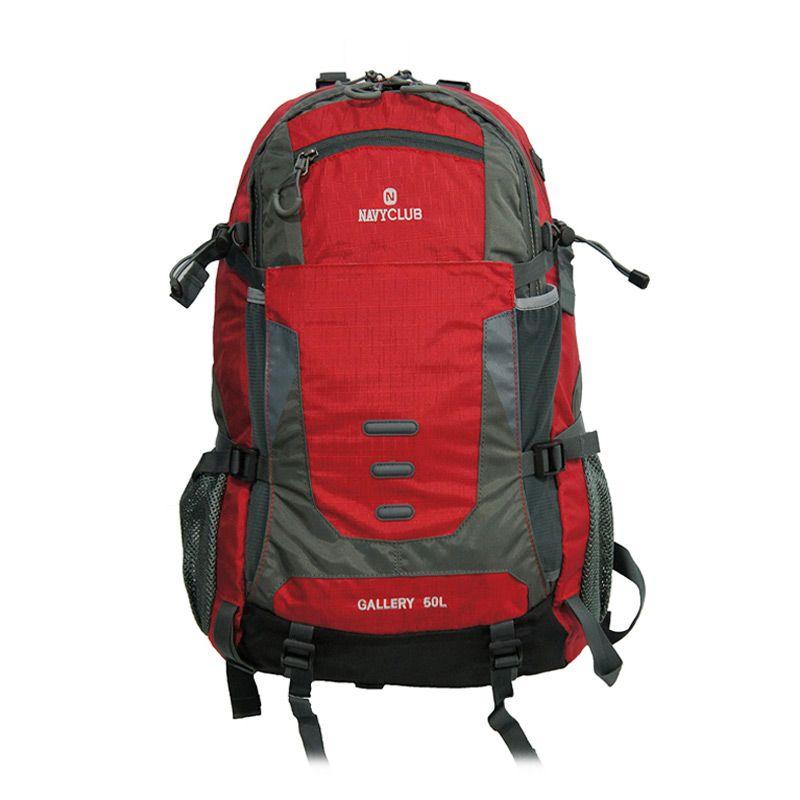 Navy Club 9086 Merah Ransel Hiking [50 L] + Bag Cover