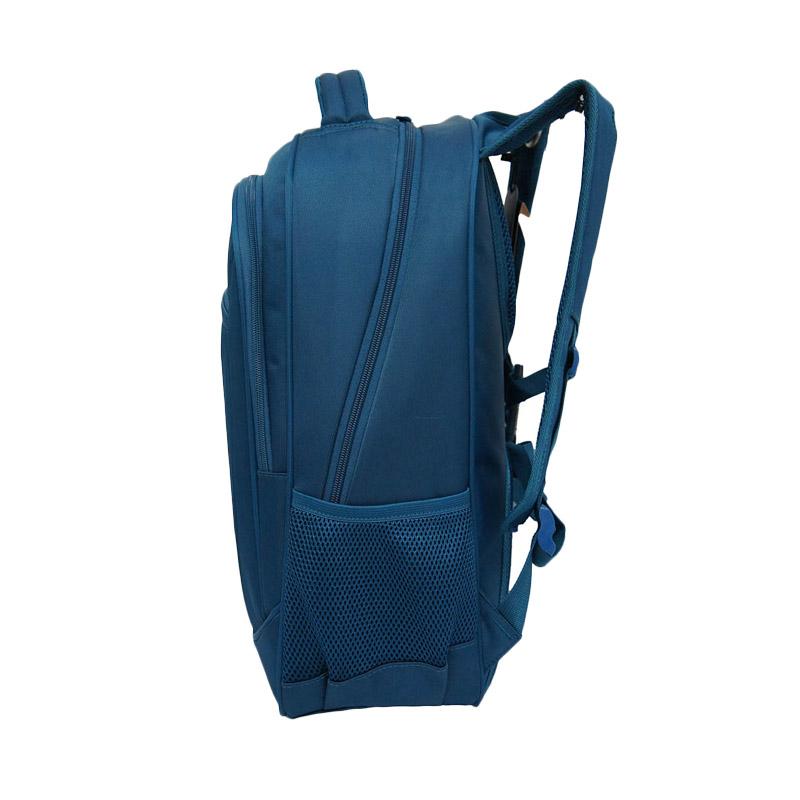 Navy Club Laptop Waterproof 8298 Tas Ransel - Biru + Free Bag Cover