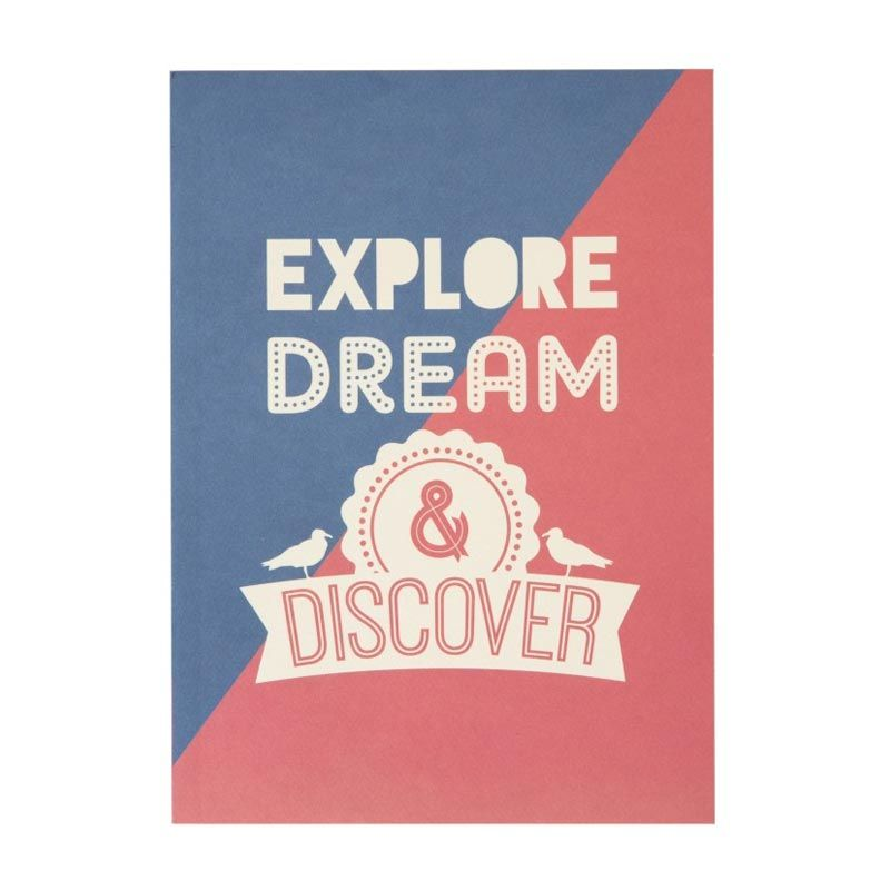 Insight-Unlimited Explore, Dream, and Discover Biru Merah Putih Buku Catatan