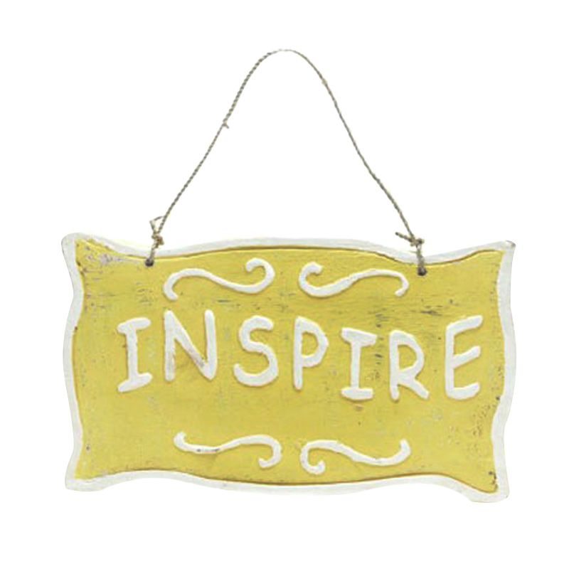 Insight-Unlimited Inspire Kuning Wall Plaque Hiasan Dinding