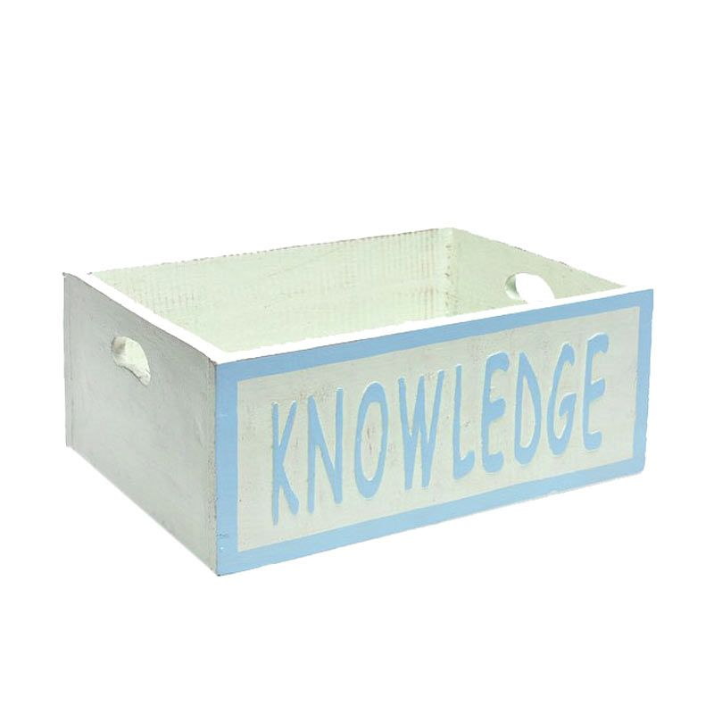 Ncore Knowledge Biru Chalk Box Pajangan