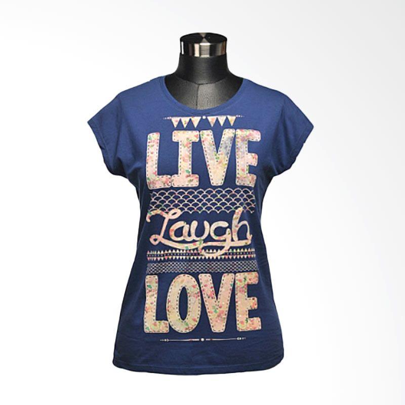 Ncore Live Laugh Love Biru Atasan Wanita