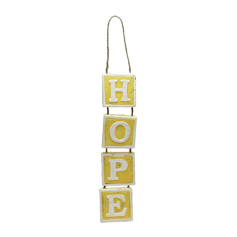Ncore Hope Wood Yellow Hanging Decoration Pajangan