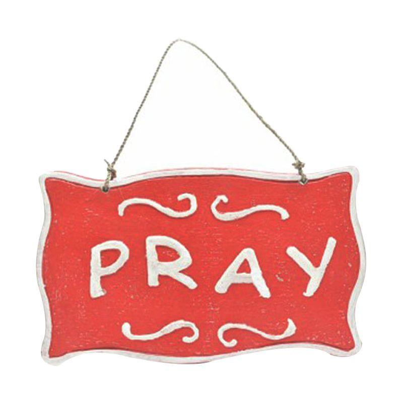 Ncore Pray Merah Wall Plaque Hiasan Dinding