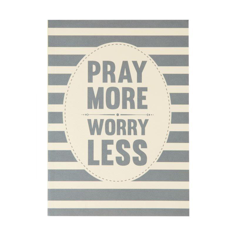 Ncore Pray More Worry Less Abu-abu Putih Buku Catatan