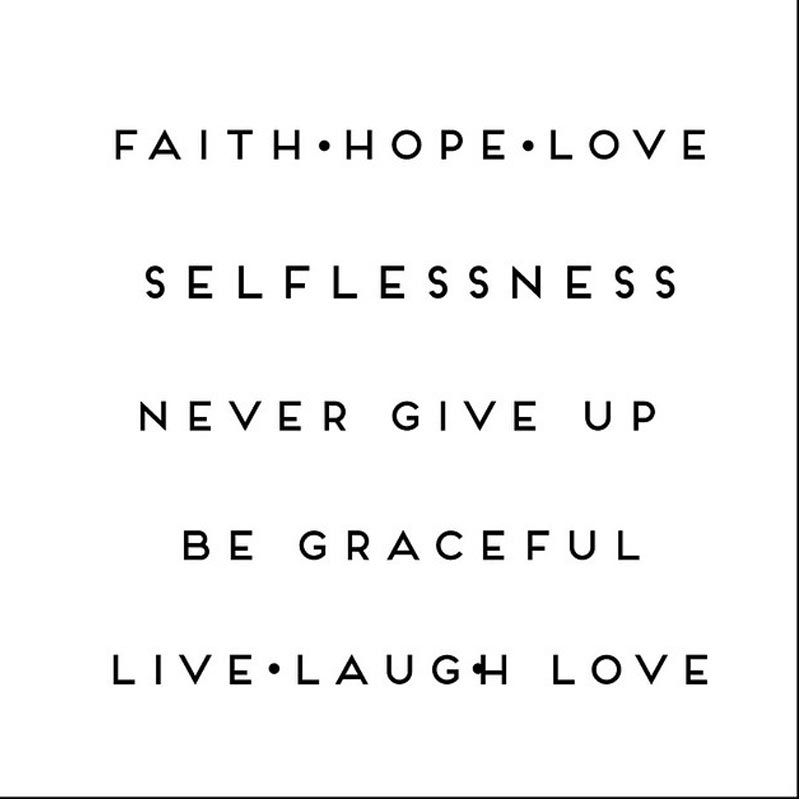 Ncore Words 6 Faith Hope Love Hitam Tato Temporer
