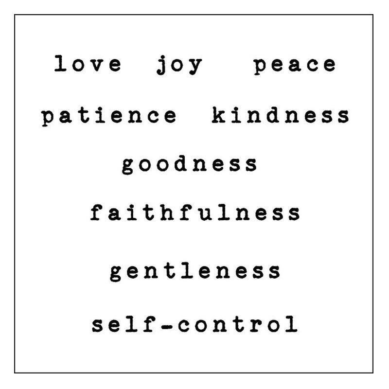 Ncore Words 7 Love Joy Peace Hitam Tato Temporer