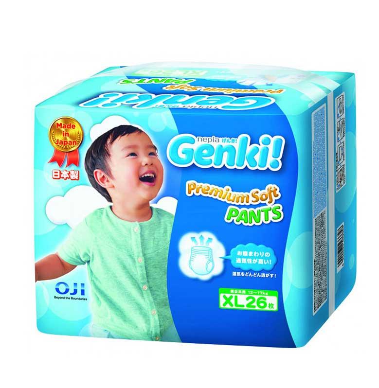 Nepia Genki New Premium Soft Pants Popok Bayi [Size XL/26 Pcs]