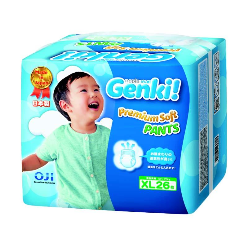 Nepia Genki Premium Soft Pants XL 26 Popok Bayi