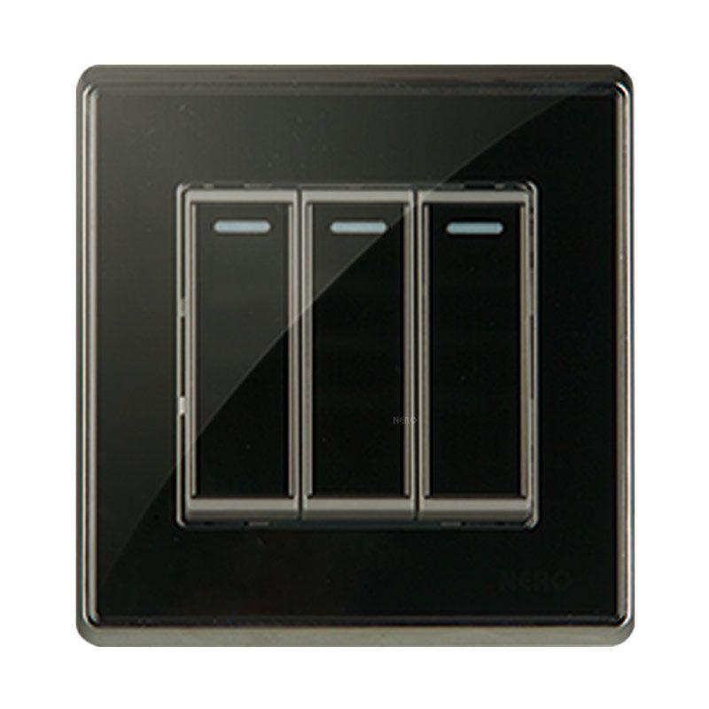 NERO CRYSTAL A9 A91631-B Black Saklar