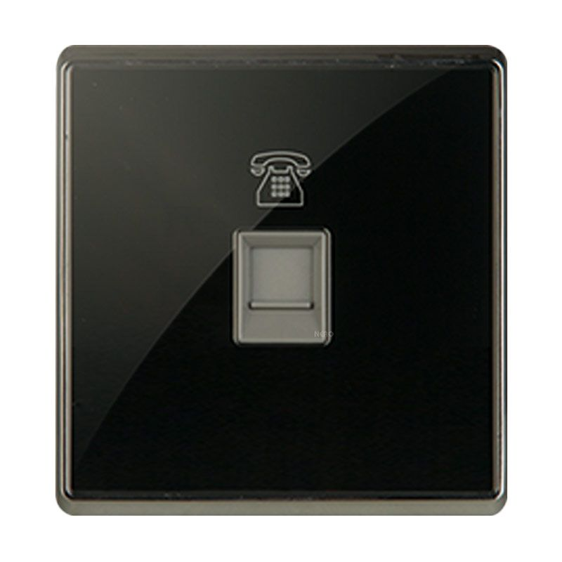 Nero Crystal A9 A9PH-B Black Telephone Outlet