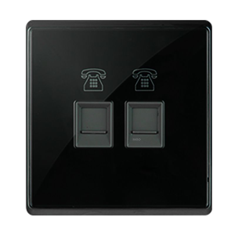 NERO CRYSTAL A9 A9PH2-B - Black Telephone Outlet