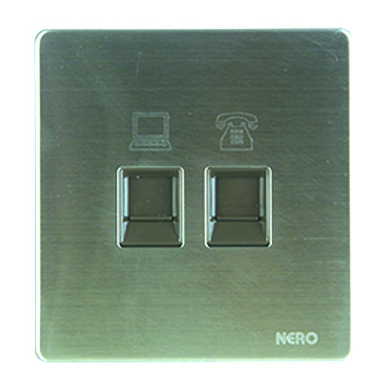 Nero Stainless V8 V8PHPCA Telephone & Data Outlet