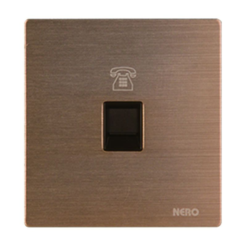 Nero Titanium V10-G V10PH-G Gold Telephone Outlet