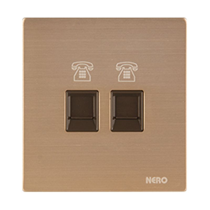 Nero Titanium V10-G V10PH2-G Gold Telephone Outlet