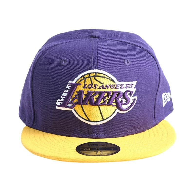 New Era NBA Los Angeles Lakers 59FIFTY Ungu Topi Basket (70242840)