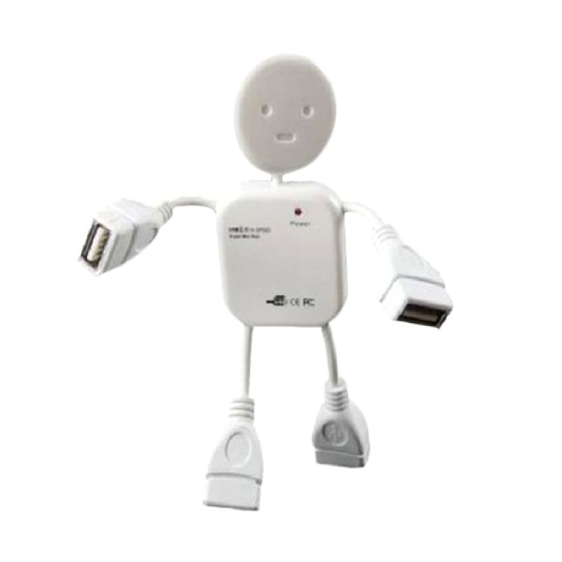 NewTech Human Port USB 2.0 White USB Hub [4 in 1]