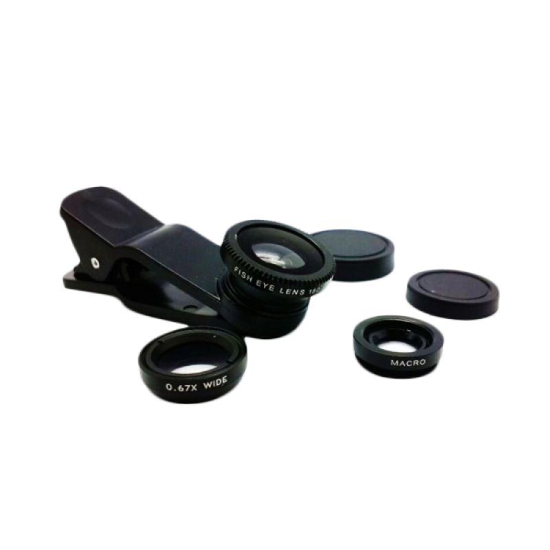 NewTech Universal Black Fish Eye Clip Lensa [3 in 1]