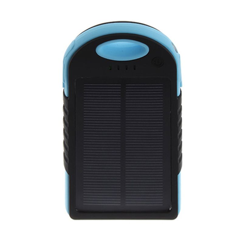 Solar Charger Black and Blue Powerbank [12000 mAh]