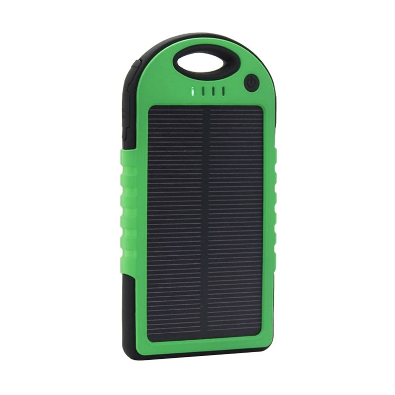 Solar Charger Black Green Powerbank [12000 mAh]