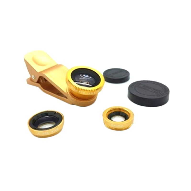 Universal 3 in 1 Gold Lens Fish Eye Clip