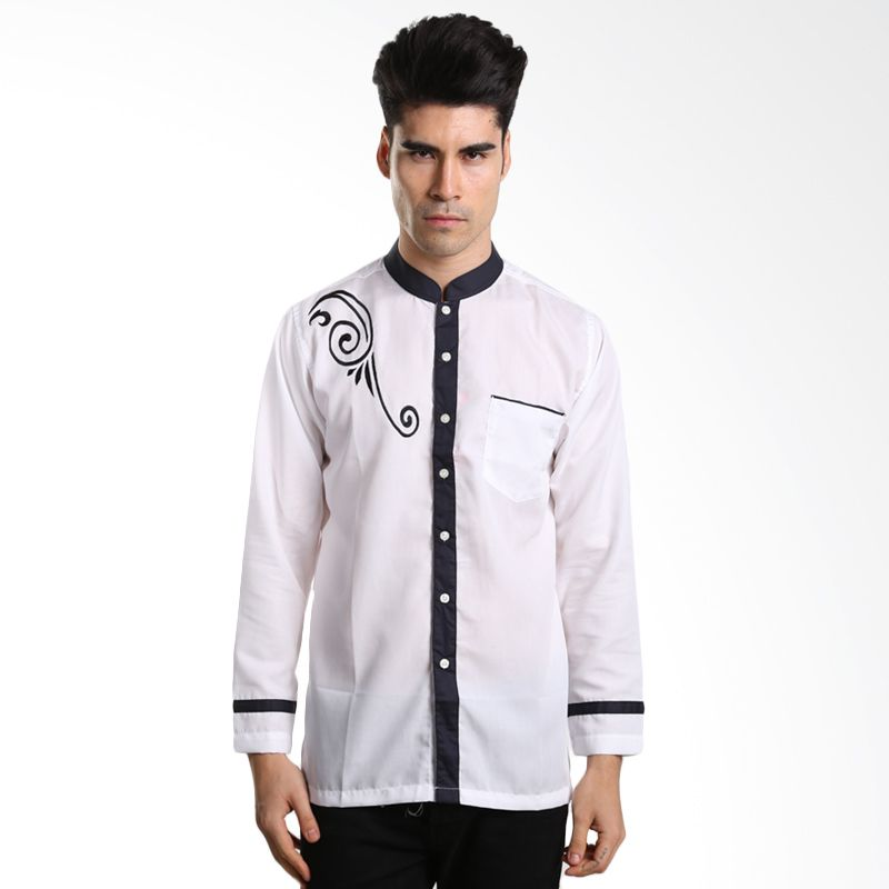 Nextgen L/S Solid Embroidered Shirt KNL507020 White Baju Koko [Lebaran Collection]