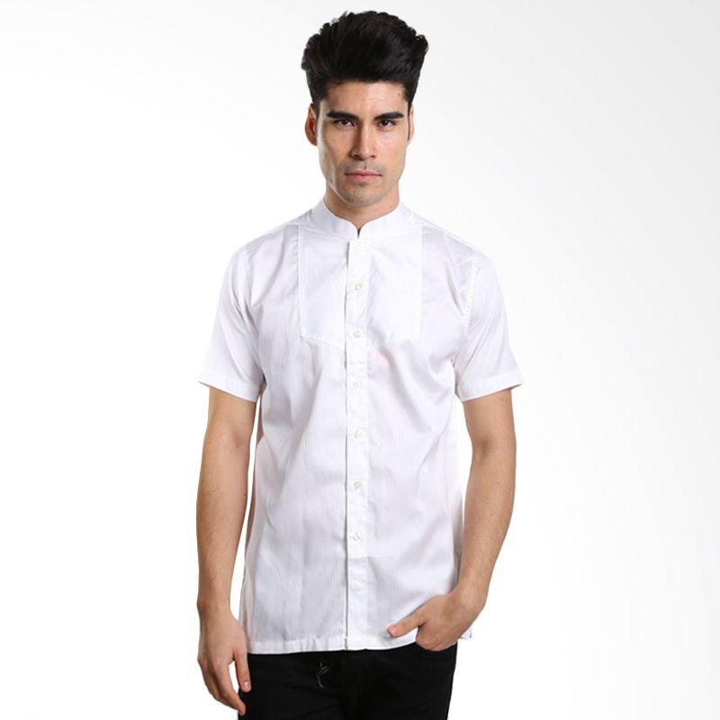 Nextgen S/S Solid Textured Shirt KNS507019 White Baju Koko [Lebaran Collection]