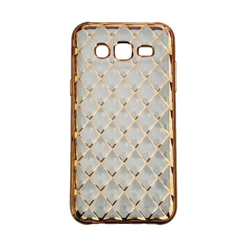 Nice 3D Diamond Grip Case for Samsung Galaxy J5 2015 - Gold