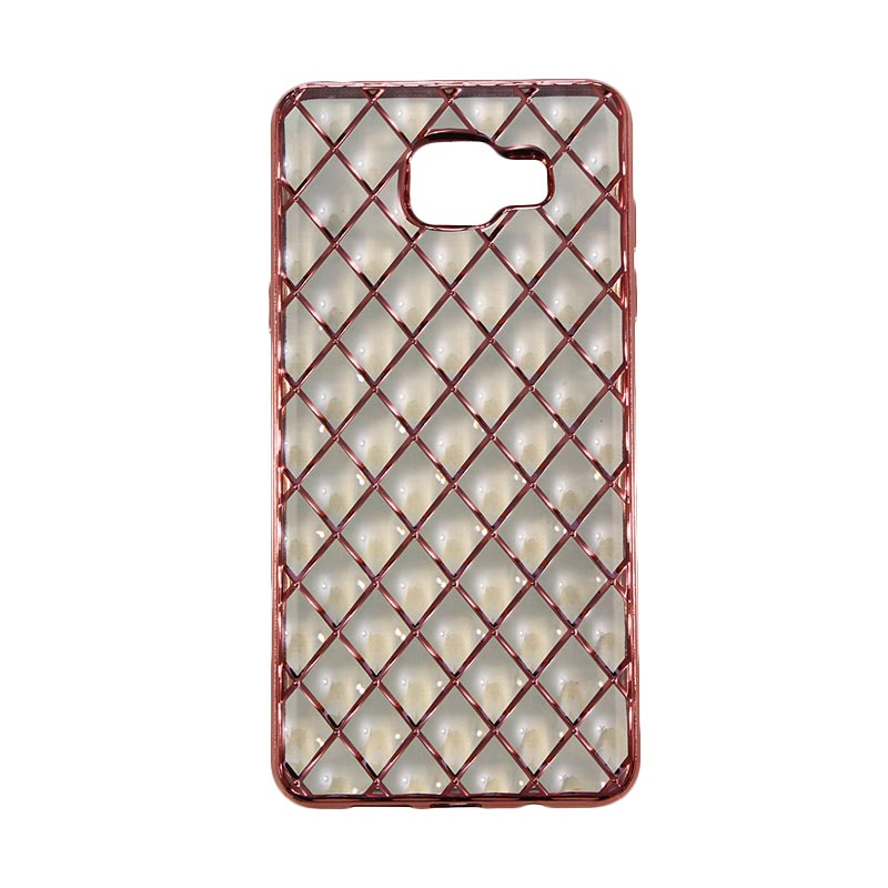 Nice 3D Diamond Grip Casing for Samsung Galaxy A510 2016 - Rose Gold