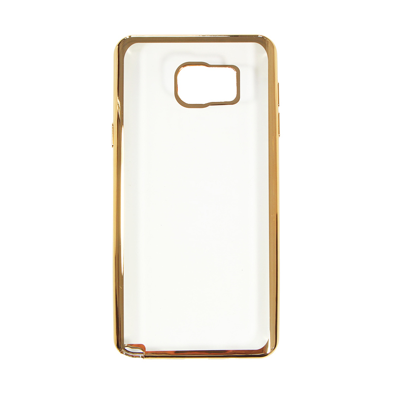 Nice Crystal Clear Shining Casing for Samsung Note 5 - Gold