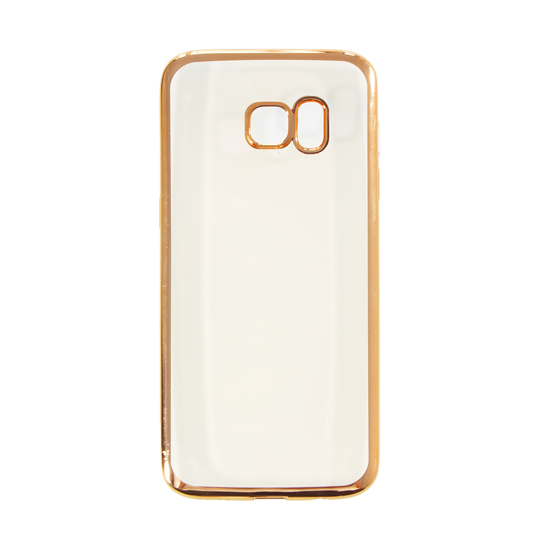 Nice Crystal Clear Shining Casing for Samsung S6 Edge - Gold