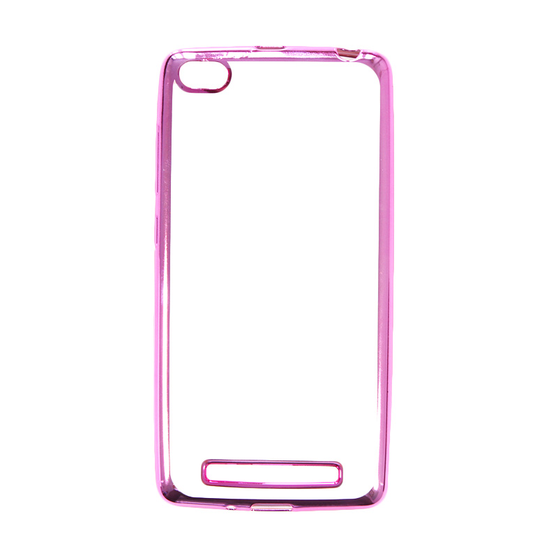 Nice Crystal Clear Shining Casing for Xiaomi Redmi 3 - Pink Chrome