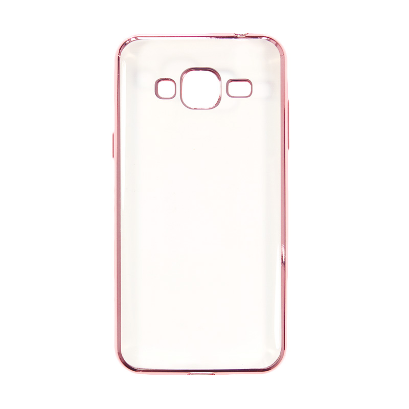 Nice Crystal Clear Shining Casing for Samsung J3 2016 - 2015 - Rose Gold