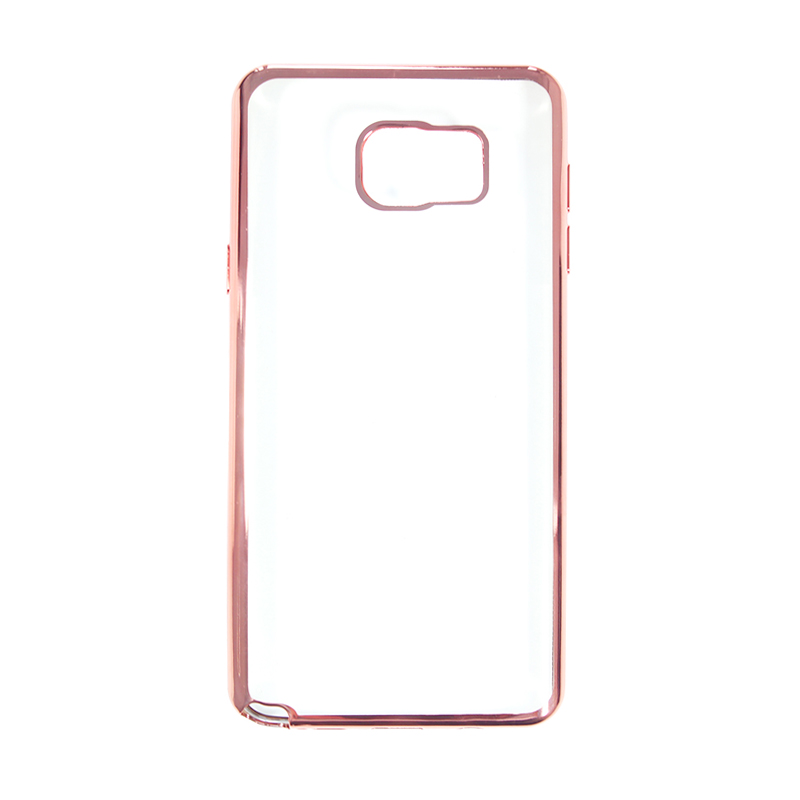 Nice Crystal Clear Shining Casing for Samsung Note 5 - Rose Gold