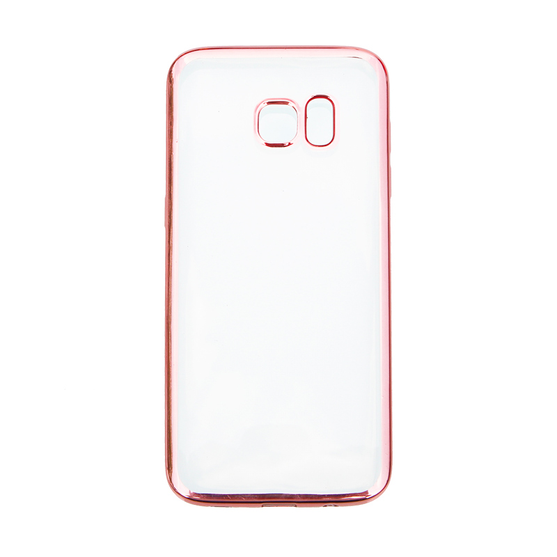 Nice Crystal Clear Shining Casing for Samsung S6 Edge - Rose Gold