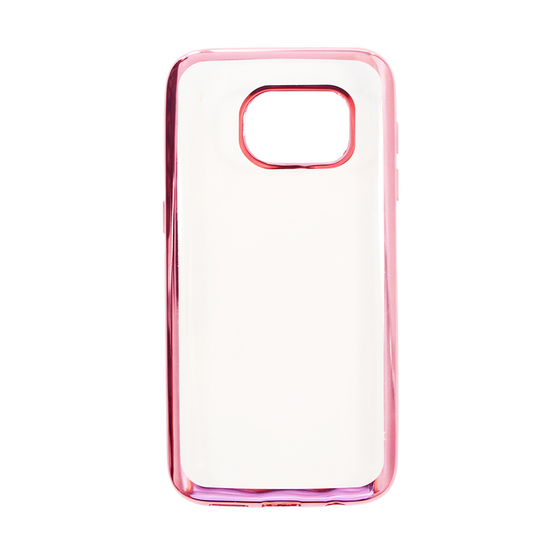 Nice Crystal Clear Shining Casing for Samsung S7 - Rose Gold