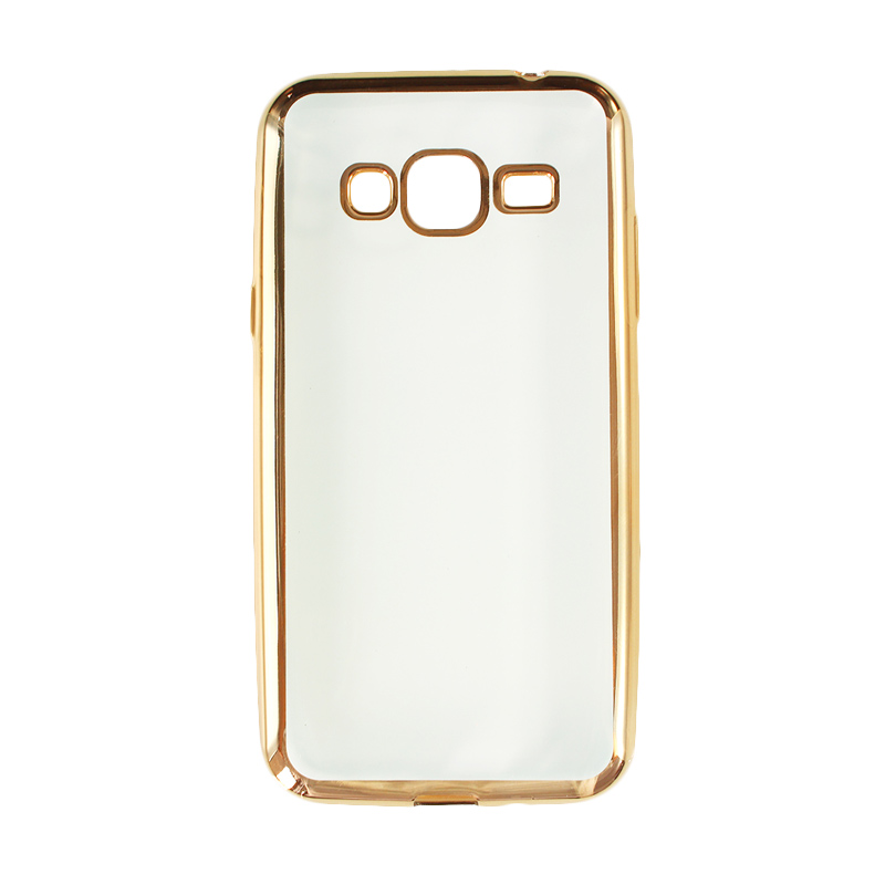 Nice Crystal Clear Shining Casing for Samsung J3 2016 - 2015 - Gold