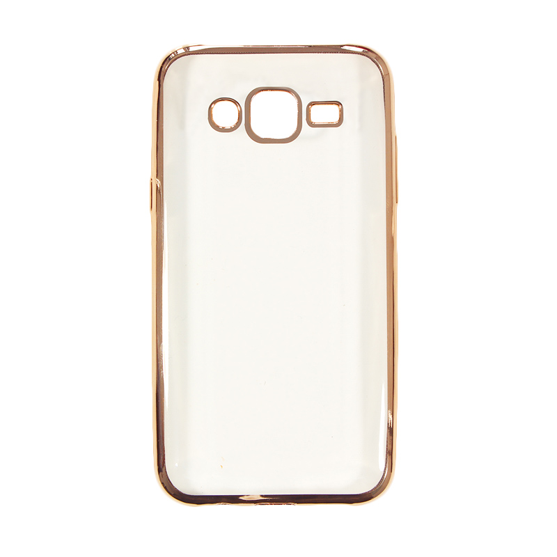 Nice Crystal Clear Shining Casing for Samsung J5 2015 - Gold