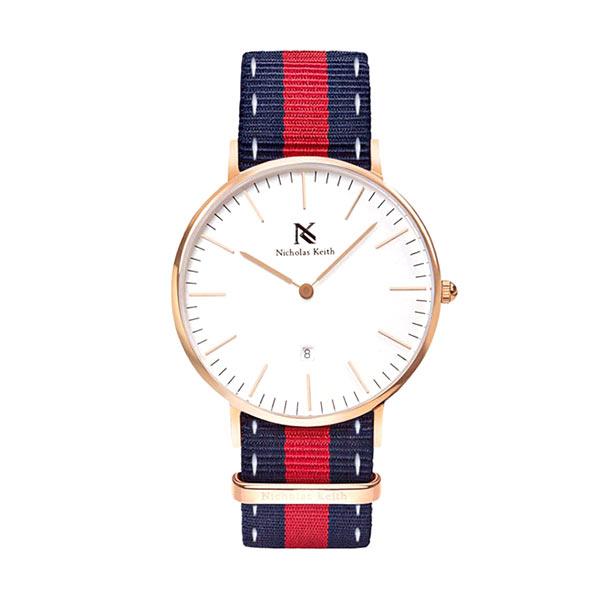Nicholas Keith Monaco NK7004 Blue Red Jam Tangan Pria