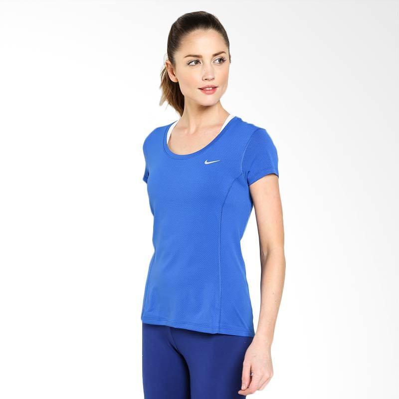 Nike AS Dri Fit Contour Short Sleeve 644695-480 Kaos Olahraga Wanita