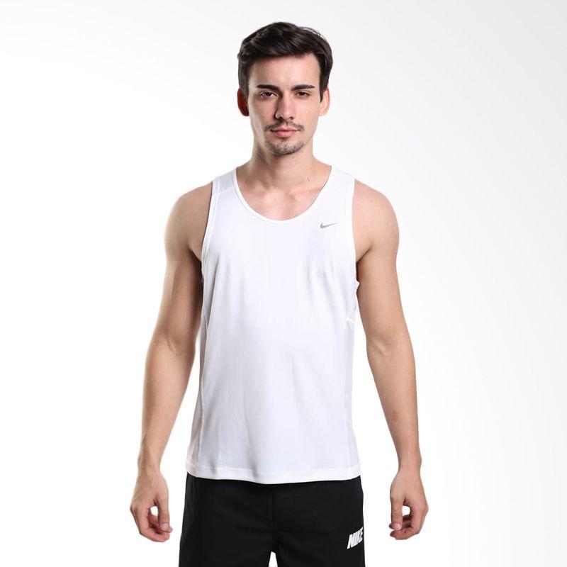 Nike AS Miler Team 519695-100 White Singlet Olahraga