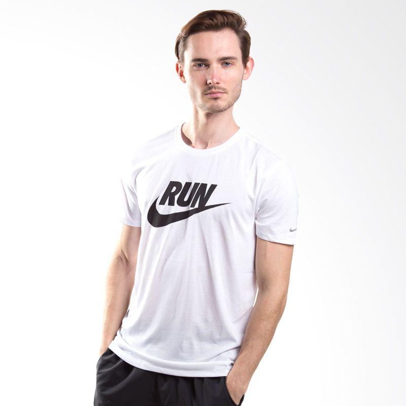 Nike As Run P Swoosh Tee 669832-100 Putih Kaos Olahraga