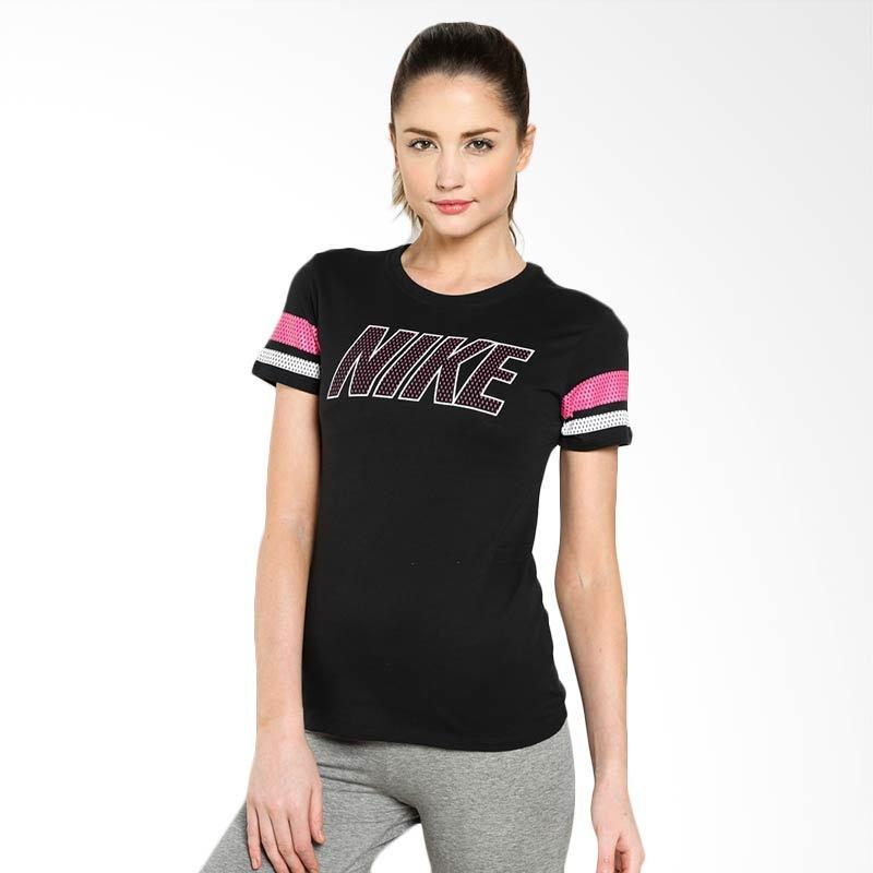 Nike AS Tee Varsity Nike Block 685526-010 Black Kaos Olahraga Wanita