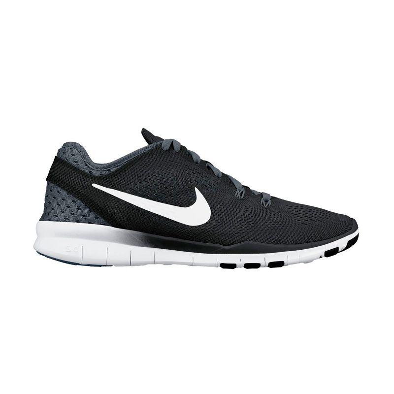 Nike Wmns Free 5.0 TR Fit 5 Brthe 718932-001 Sepatu Training Wanita (5.5) (Black, White, Dark grey)