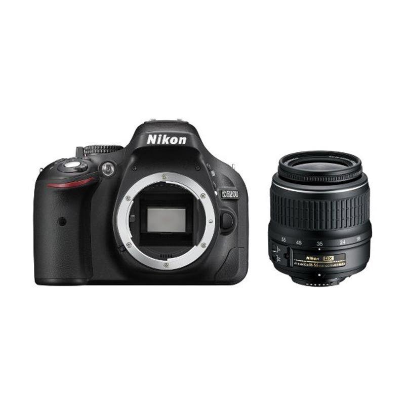 Nikon D5200 Non VR 18-55mm Kit Hitam Kamera DSLR