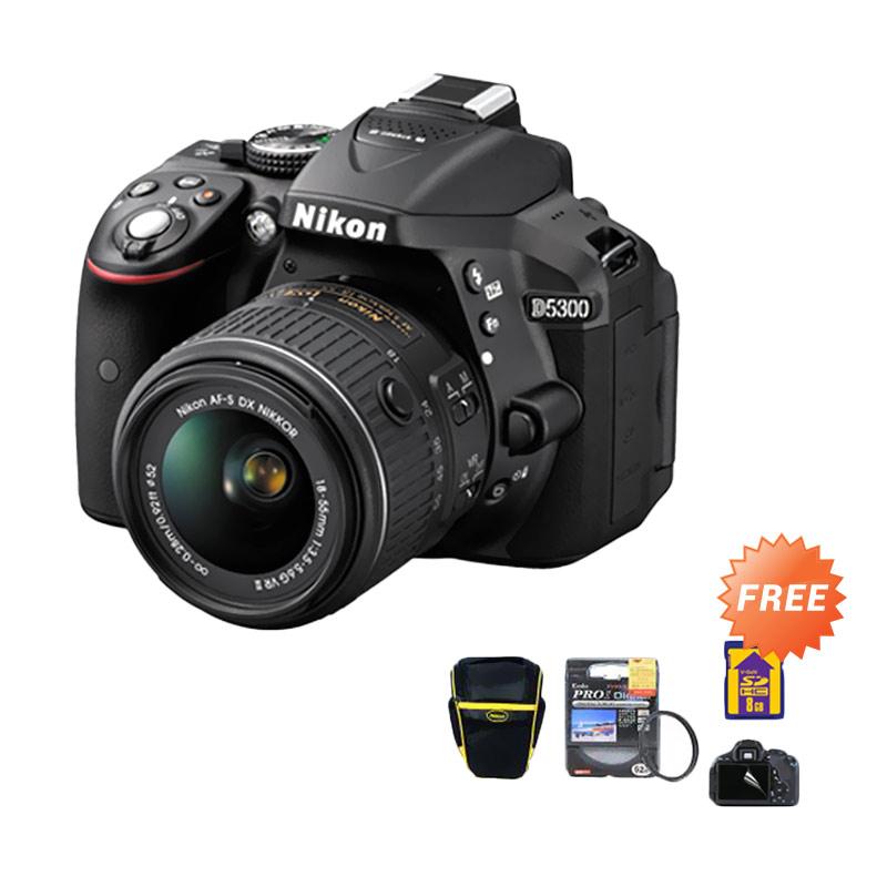 Nikon D5300 18-55mm VR lens Kamera DSLR [24.2MP]