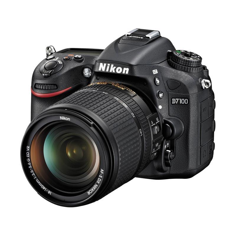 Nikon D7100 Kit 18-140mm VR Hitam Kamera DSLR [24.1 MP/7x Optical Zoom]